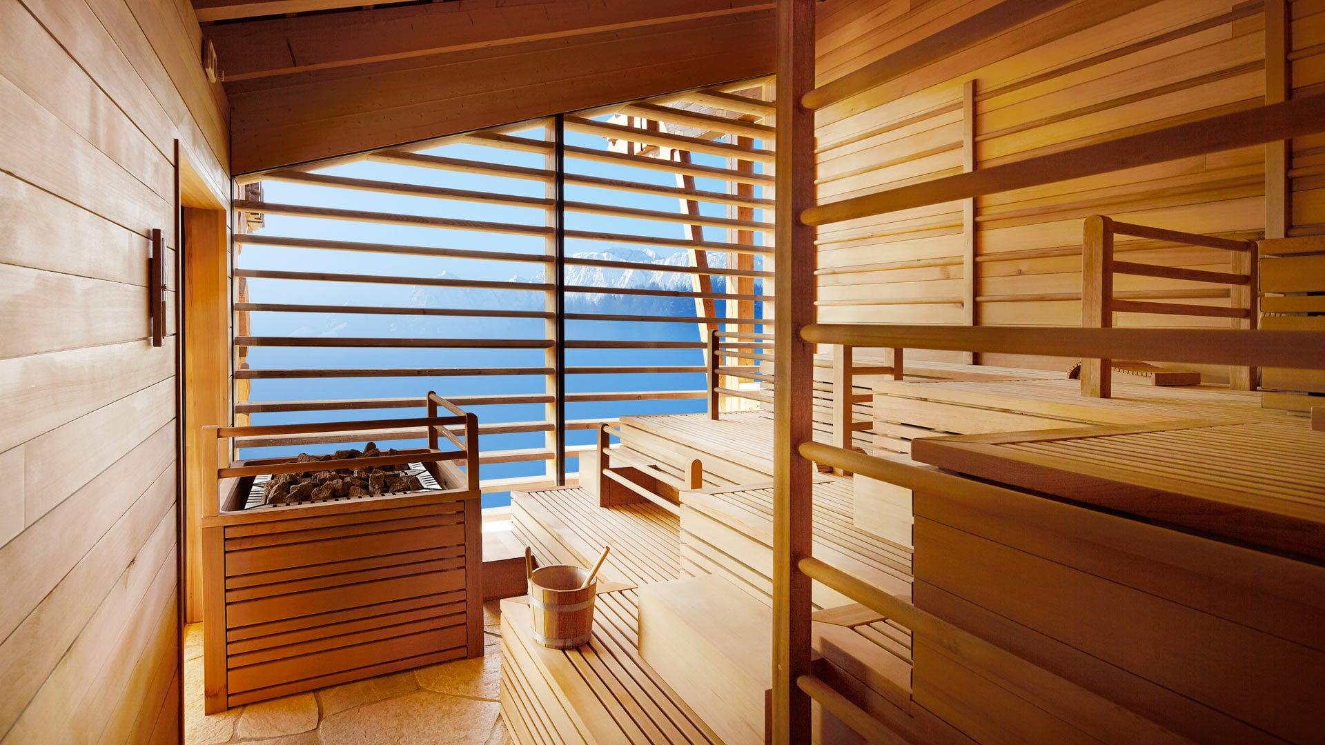 Sauna mit Fernsicht